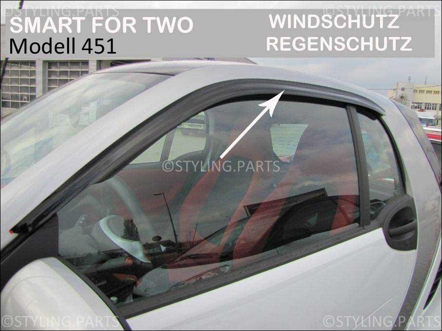 windabweiser windvisor windschutz regenabweiser f r smart