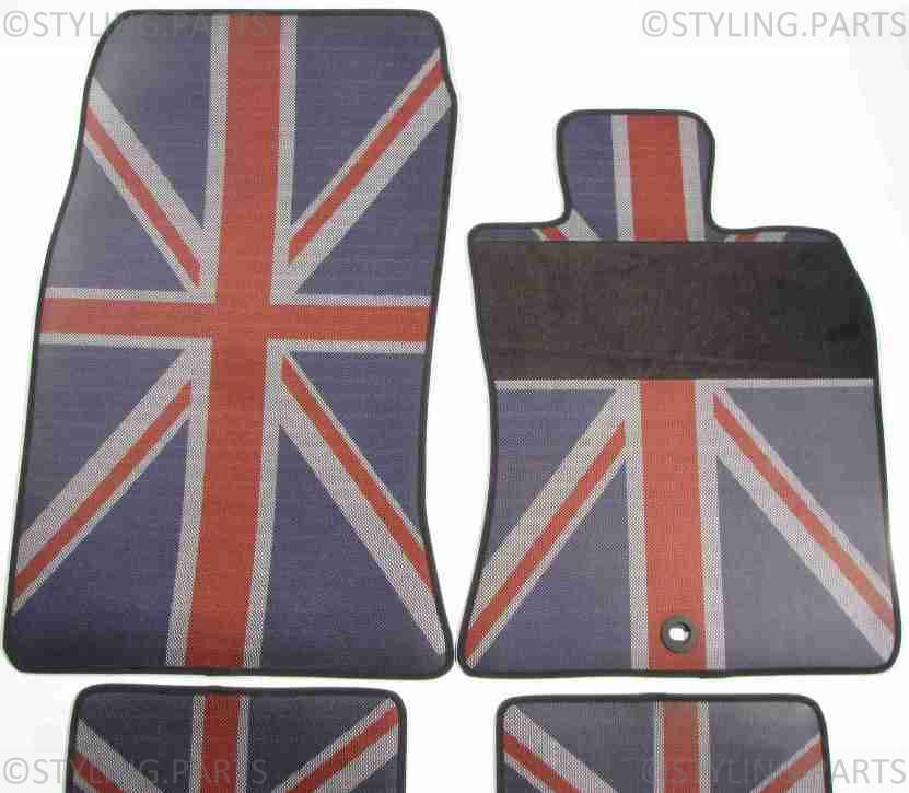 Mini One Cooper R55 R56 R57 Rubber Floor Mats Union Jack