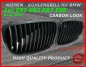 Preview: passend für BMW Niere Carbon Look 1er E81 E82 E87 E88 AB FACELIFT 07