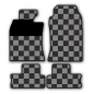 MINI Fuss Gummimatten Checkered Flag Design R55 R56 R57