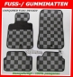 VW Golf VI 6 2008-12 Gummimatten Checkered Flag / Schachbrett / Zielflagge