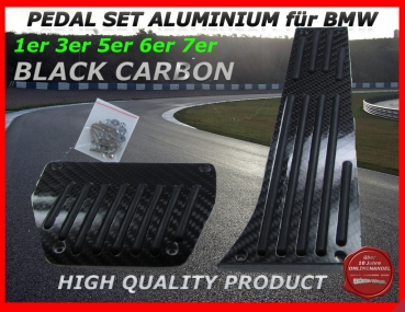 ALU PADALS FIT FOR BMW AUTOMATIC GEAR SHIFT IN BLACK CARBON LOOK
