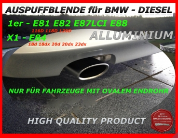 Original BMW Tail Pipe Cover for BMW 1er X1