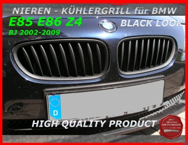 Fit on BMW Grille Black Z4 02-09