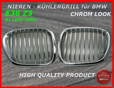 Fit on BMW Grille Chrome Z3 96-02