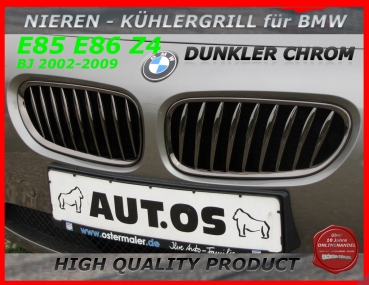 Fit on BMW Grille Black Chrome Z4 02-09