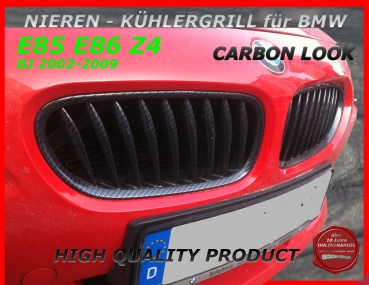 Fit on BMW Grille Carbon Look Z4 02-09