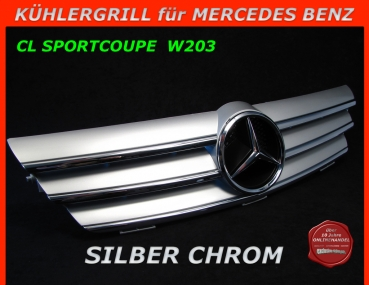 MB Kühlergrill Chrom Silber W203 CL Sportcoupe