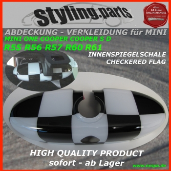 MINI Innenspiegel Chequered Flag R55 R56 R57 R60