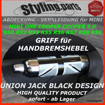 Passend für MINI Handbremshebel in UNION JACK BLACK R50 R52 R53 R55 R56 R57 R58 R59
