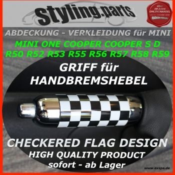 Passend für MINI Handbremshebel CHECKERED FLAG R50 R52 R53 R55 R56 R57 R58 R59