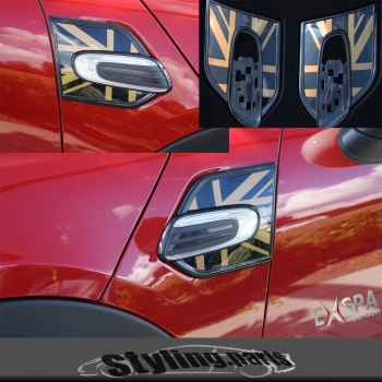 MINI F55 F56 SIDE SCUTTLES SEITENBLINKER UNION JACK GOLD - MINI ab ende 2013