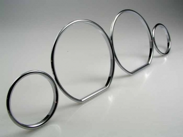 Fit on BMW Dashboard Rings Chrome E36 3er Z3 snap in