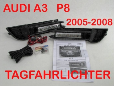 AUDI A3 8P 2005-2008 DAYLIGHT DRL include Black insert