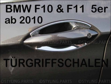 Fit on BMW F10 F11 5er Limousine & Touring since 2010 4 DOOR HANDLE INSERTS IN CHROME