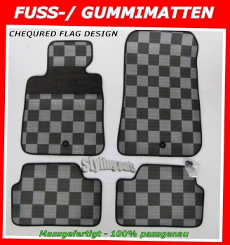 Fit on AUDI A3 8V ab 2012 Door-Mat Ceckered Flag Design