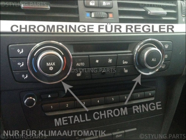 BMW Heater Surround Rings Chrom 1er E81 E82 E87 E88 3er E90 E91