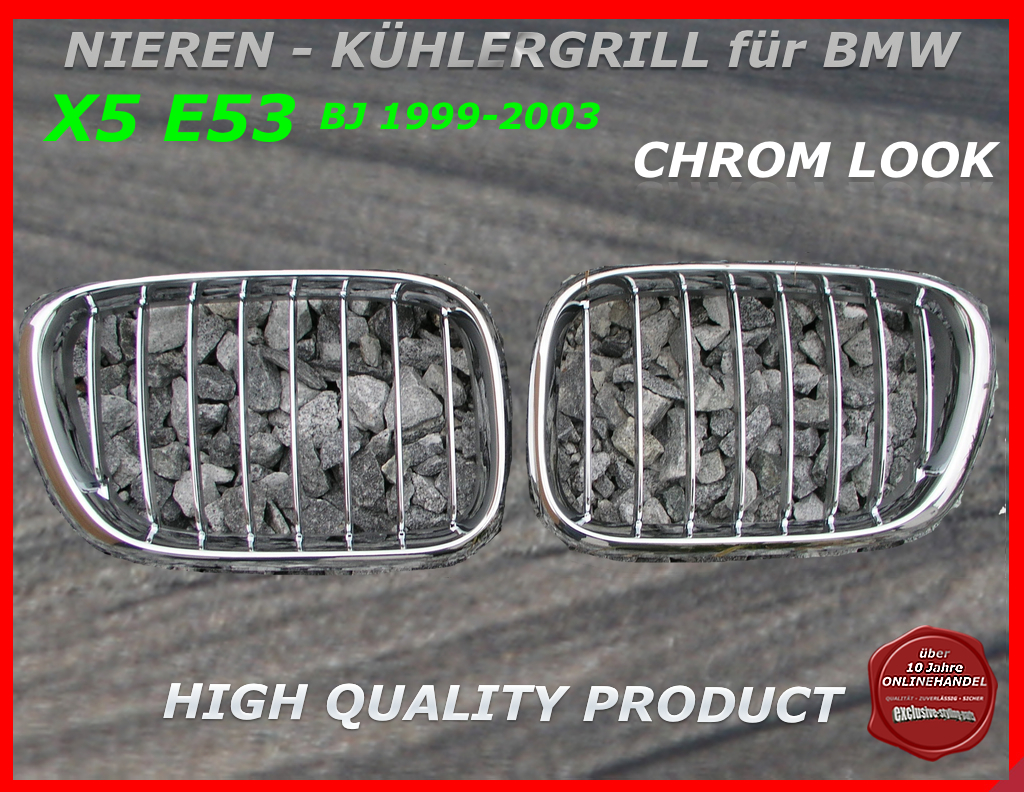 bmw nieren k hlergrill chrom x5 e53 1999 2003. Black Bedroom Furniture Sets. Home Design Ideas