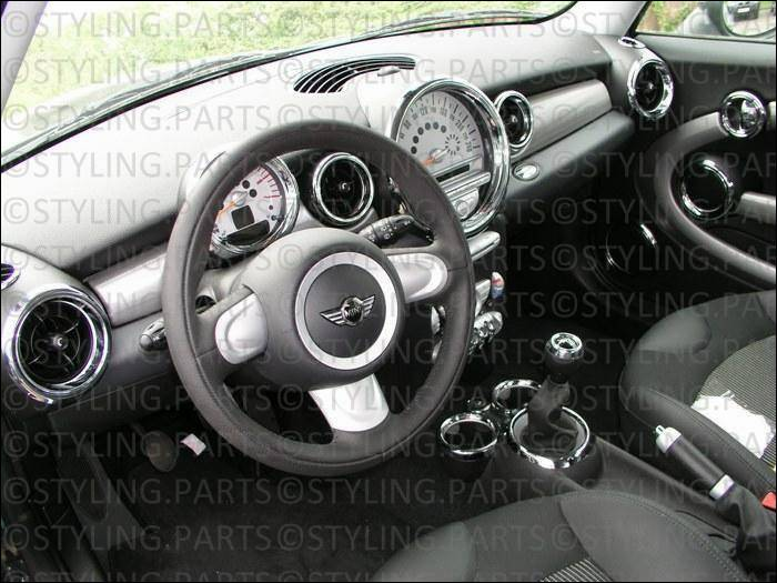 fit on mini interieur set chrome 27pcs r55 r56