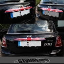 MINI ONE COOPER R56 R57 Cabri R58 Roadster R59 KOFFERRAUMLEISTE UNION JACK COLOR