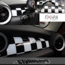 MINI ONE COOPER COCKPIT INNENVERKLEIDUNG CHEQUERED FLAG R55 R56 R57 R58 R59