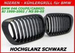 Fit on BMW Grille 3er E46 Coupe 99-02/ M3 99-05 glossy Black