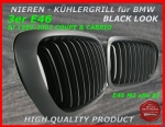 Fit on BMW Front Grille Black 3er E46 Coupe 99-02