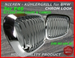 BMW Nieren Kühlergrill Chrom 3er E46 Coupe 99-02