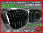 BMW Nieren Kühlergrill Carbon 3er E46 Coupe 99-02