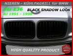 BMW Nieren Kühlergrill Black M3 Look E36 3er 91-96