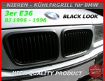 BMW Nieren Kühlergrill Black M3 Look E36 3er 96-98