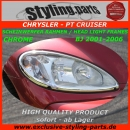 PT Cruiser Head Light Frames Chrome 01-06
