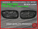 Fit on BMW Grill Black 3er E92 E93 bis 03/2010