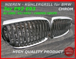 Fit on BMW Grill Chrom 3er E92 E93 bis 03/2010