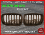 Fit for BMW Grille Black X5 E70 X6 E71