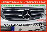 MB Grill Black / Chrome W203 C-Class incl. signature Star