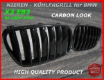 BMW Grill Carbon Look X3 E83 09/06-10