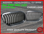 Fit on BMW Grille Chrom 3er E90 E91 ab 09/2008