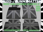 MINI Fuss Gummimatten Union Jack Black R55 R56 R57