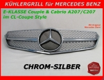 MB Kühlergrill Chrom/Silber W207 E-Klasse Coupe & Cabrio - MIT STERN