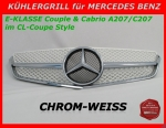 MB Kühlergrill Chrom/Weiss W207 E-Klasse Coupe & Cabrio