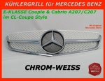 MB Kühlergrill Chrom/Weiss W207 E-Klasse Coupe & Cabrio - MIT STERN