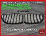 Fit on BMW Grill Black 3er E92 E93 ab 03/2010