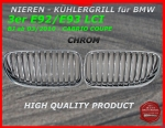 Fit on BMW Grill CHROME 3er E92 E93 ab 03/2010