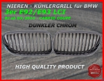 Fit on BMW Grill DARK CHROME 3er E92 E93 ab 03/2010