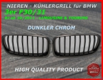 Fit on BMW Grill black chrome 3er F30 F31 ab 2011