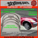 PT-Cruiser 4 doors Fender Trim Stainless Steel Chrome (extended Version)