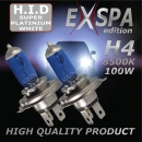 H4 8500K 100W Xenon Look Halogen Birnen SUPER White
