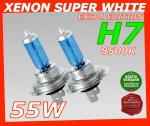 H7 8500K 55W Xenon Look Halogen Birnen SUPER White