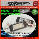 Fit on MINI Licence Plate Light LED White E-Mark R56 R57 R58 R59
